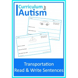 Read Write Sentences Transportation Theme Worksheets