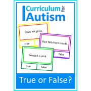 Reading Skills True or False, 80 Clip Cards