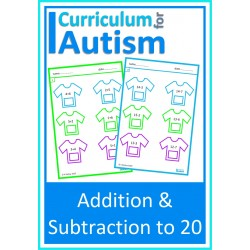 Add & Subtract to 20 T Shirt Worksheets
