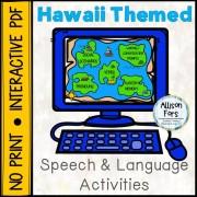 [NO PRINT] Hawaii Themed Speech & Language Activities