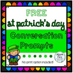 St Patrick's Day Conversation Starters