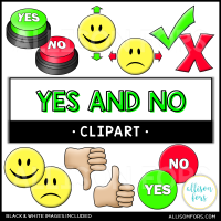 Yes and No Clip Art