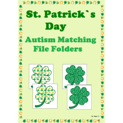 FREE St. Patrick`s Day Matching File Folders for Autism