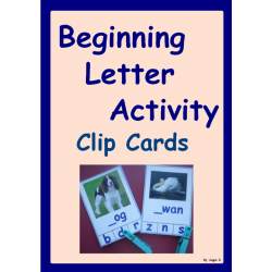 Beginning Letter Clip Cards