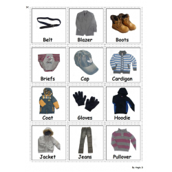 Boys Clothing - Autism Communication Cards