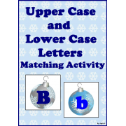 Upper Case & Lower Case Letter Matching Activity - Christmas Balls