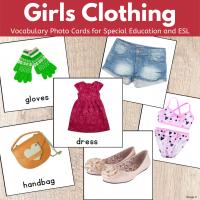 Girls Clothing Cards