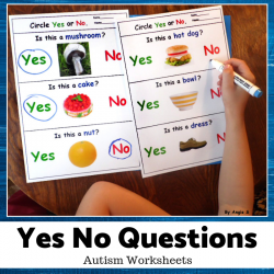 Print and Go Yes No Questions for Speech Therapy