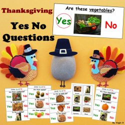 Thanksgiving Yes No Questions Print and Go Worksheets