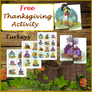 FREE Thanksgiving Activity - Matching Halves, Turkeys