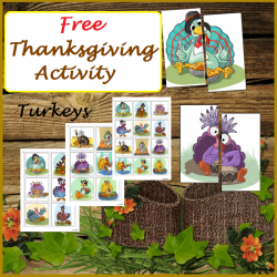 FREE Thanksgiving Activity - Matching Halves, Turkeys