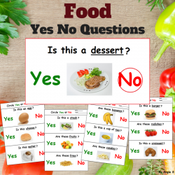 Print and Go Food Yes No Questions for Special Education