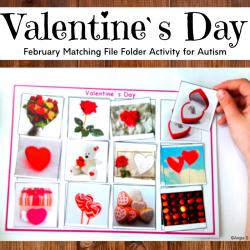 Valentine`s Day Matching File Folder Activity