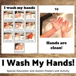Washing Hands Visual Posters and Activity