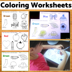 Print and Go Coloring Worksheets- 10 colors