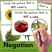 Print and Go Negation Speech Therapy Worksheets No Prep