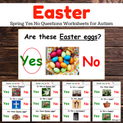 Easter Yes No Questions Worksheets No Prep