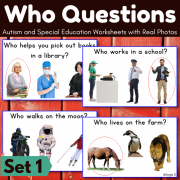 Who Questions Print and Go Worksheets