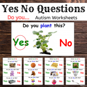 Yes No Questions (Do You...) Print and Go Worksheets