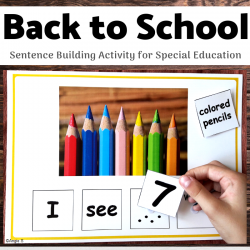 Back to School Activity - Building Sentences