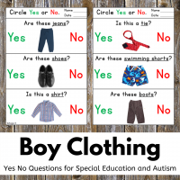Print and Go Boy Clothing Yes No Questions
