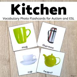 Kitchen Vocabulary Cards, Kitchen Tools, Kitchen Utensils
