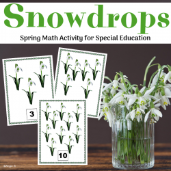 Snowdrops Counting Activity for Spring