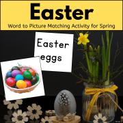 Easter Word to Picture Matching Activity