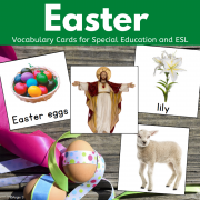 Easter Vocabulary Cards for Autism, Pecs