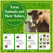 Farm Animals and Their Babies Adapted Book