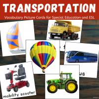 Transportation Picture Cards