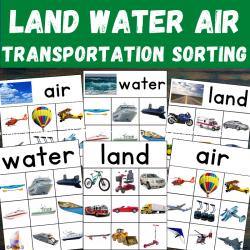 Air Land Water Transportation Sorting Activity