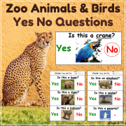 Print and Go Zoo Animals Activities - Yes No Questions