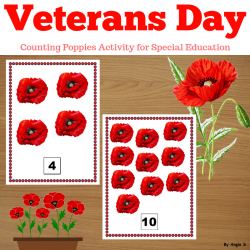 Veterans Day Activity - Counting Poppies