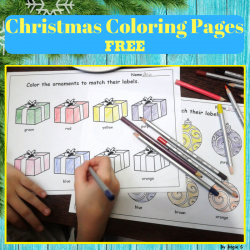 FREE Winter and Christmas Coloring Worksheets