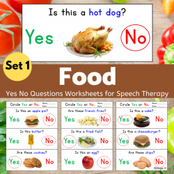 Print and Go Food Yes No Questions Set 1