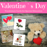 Valentine`s Day Cards for Autism, Pecs, Visuals, Speech Therapy, ABA