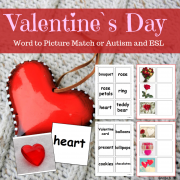 Valentine`s Day Activity - Word to Picture Match
