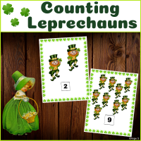 Leprechauns Counting Activity for Saint Patrick`s Day