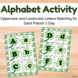 Uppercase and Lowercase Letters Matching Activity - Shamrocks