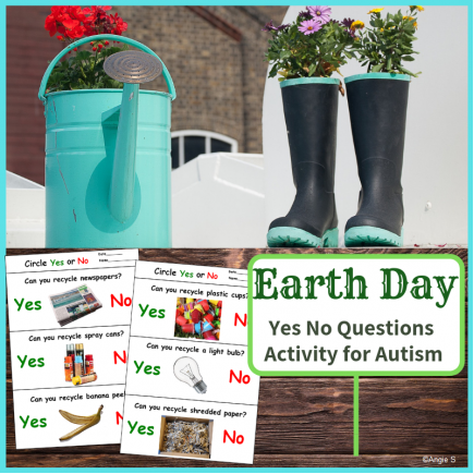 Recycling Activity for Earth Day, Yes No Questions Print and Go Worksheets