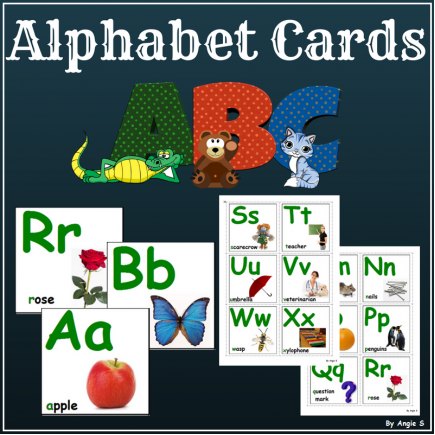 Alphabet Photo Flash Cards
