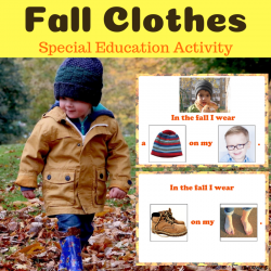 Fall Clothing - Adapted Book for Autism