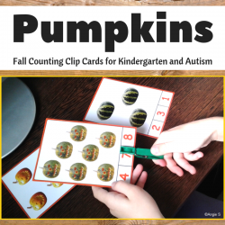 Fall Clip Cards - Pumpkins