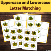 Letter Matching Uppercase and Lowercase - Fall Leaves