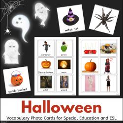 Halloween Vocabulary Photo Flash Cards