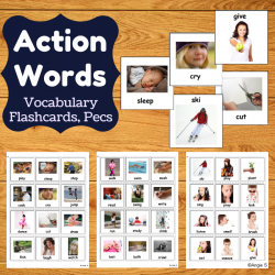 Action Words Autism Communication Cards