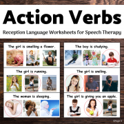Action Verbs Worksheets for Speech Therapy