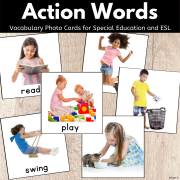 Action Verb Picture Cards for Speech Therapy