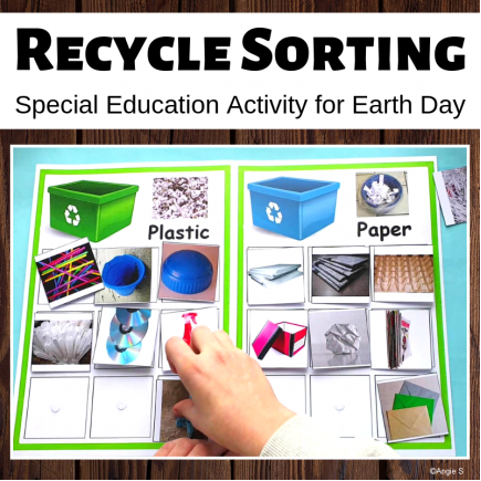 Recycle Sorting Activity for Earth Day